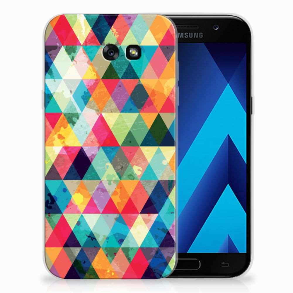 Samsung Galaxy A7 2017 Uniek TPU Hoesje Geruit