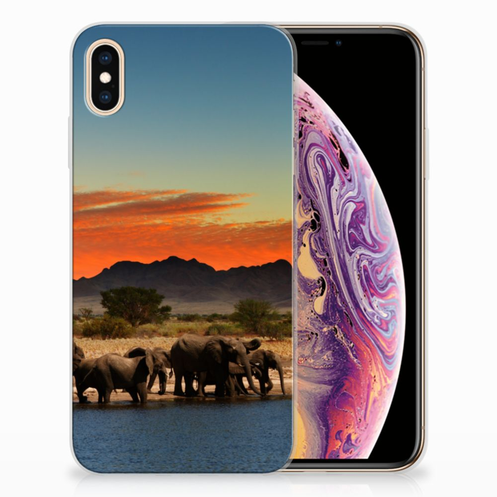 Apple iPhone Xs Max TPU Hoesje Design Olifanten