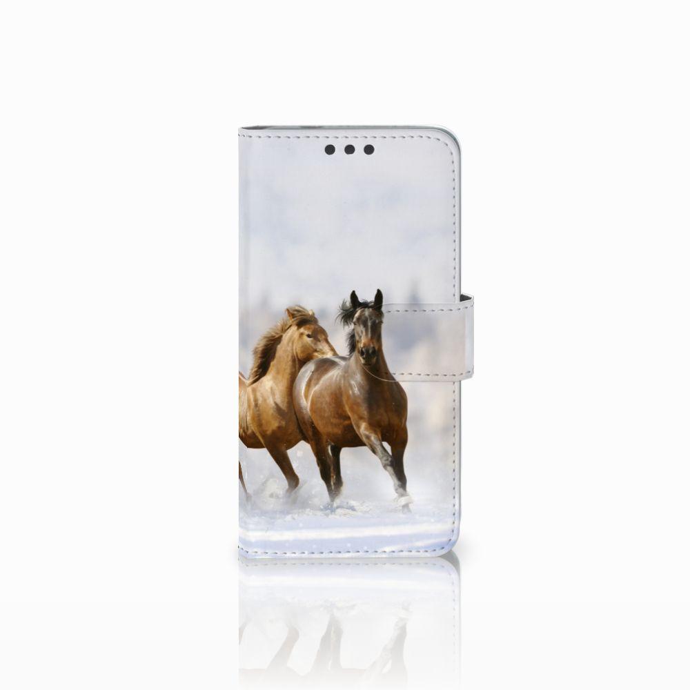 Microsoft Lumia 650 Uniek Boekhoesje Paarden