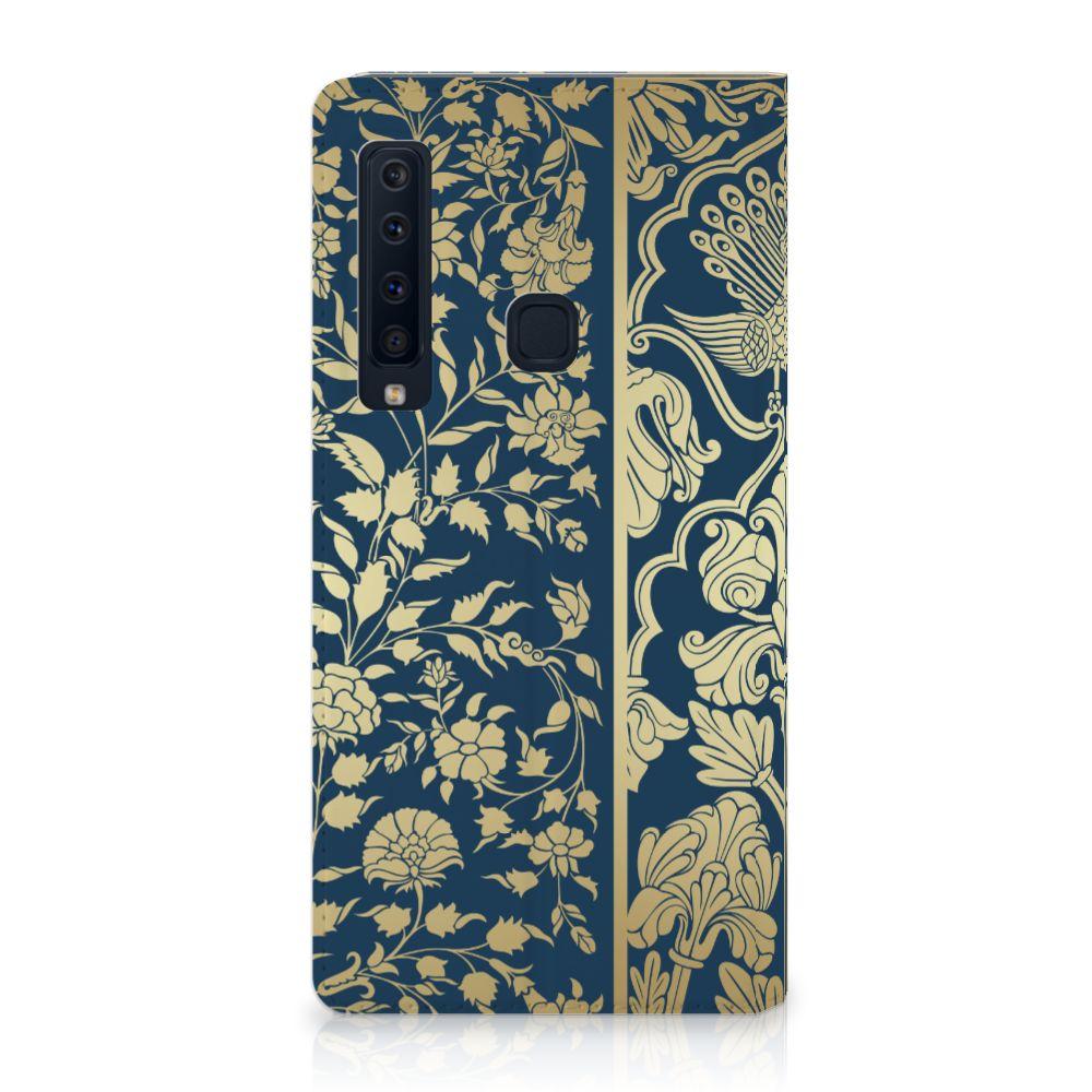 Samsung Galaxy A9 (2018) Standcase Hoesje Golden Flowers