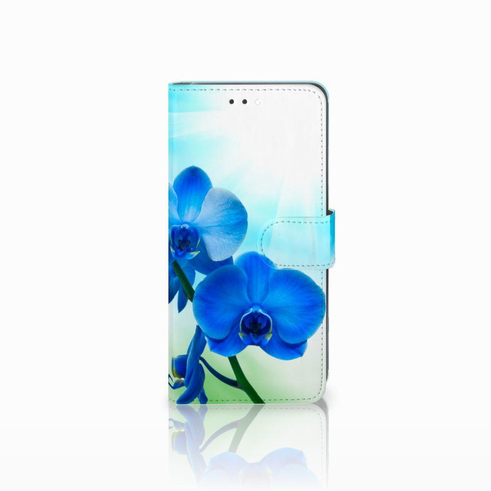 Huawei Y7 2018 Boekhoesje Design Orchidee Blauw