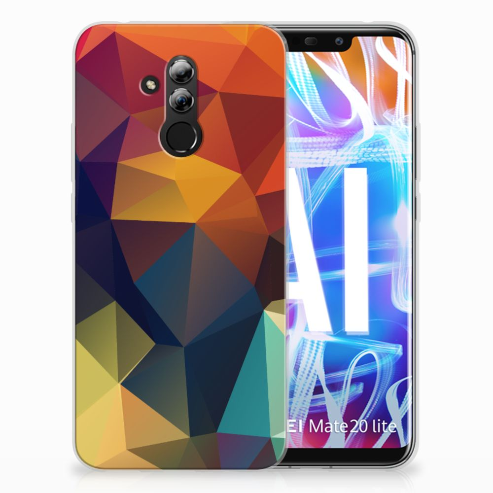 Huawei Mate 20 Lite TPU Hoesje Design Polygon Color