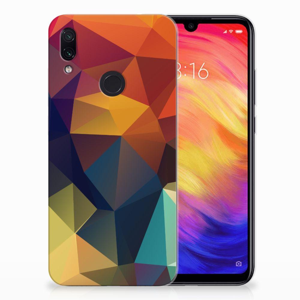 Xiaomi Redmi Note 7 TPU Hoesje Polygon Color