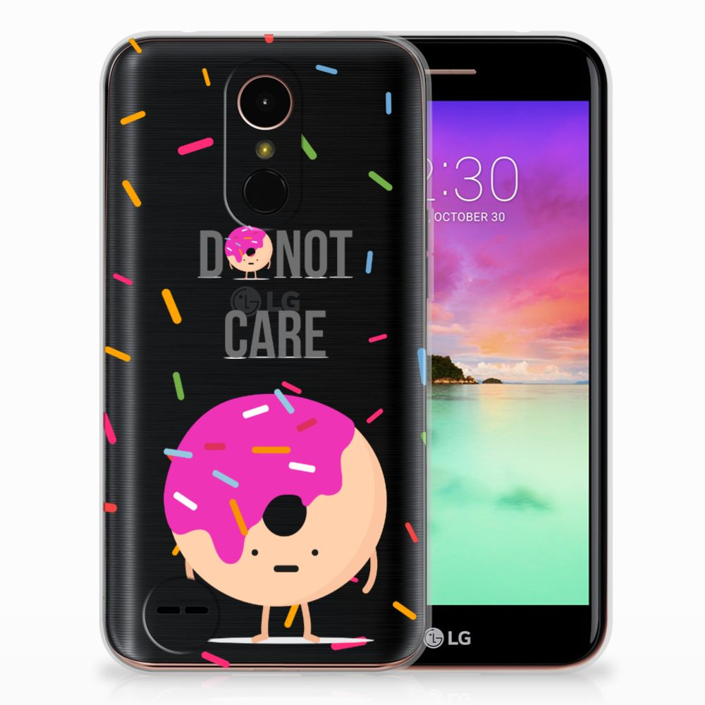 LG K10 2017 Siliconen Case Donut Roze