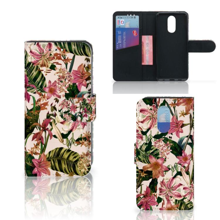 LG Q7 Hoesje Flowers