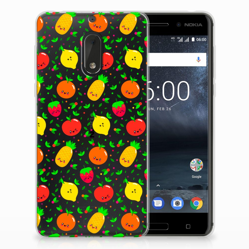Nokia 6 Siliconen Case Fruits