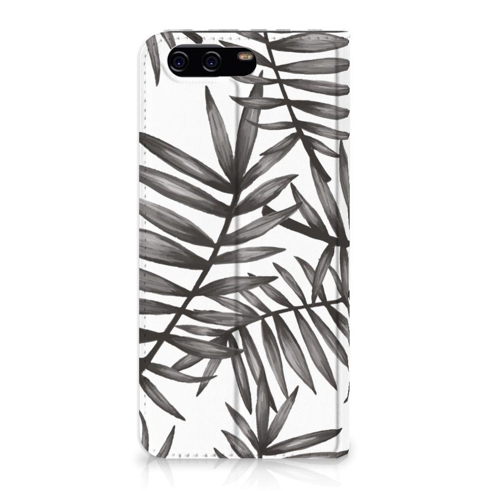 Huawei P10 Uniek Standcase Hoesje Leaves Grey