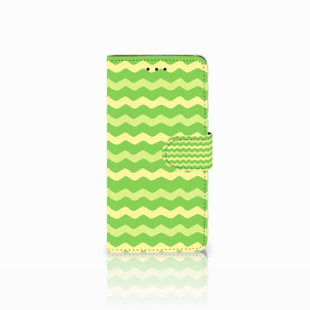 Huawei Y5 2018 Telefoon Hoesje Waves Green