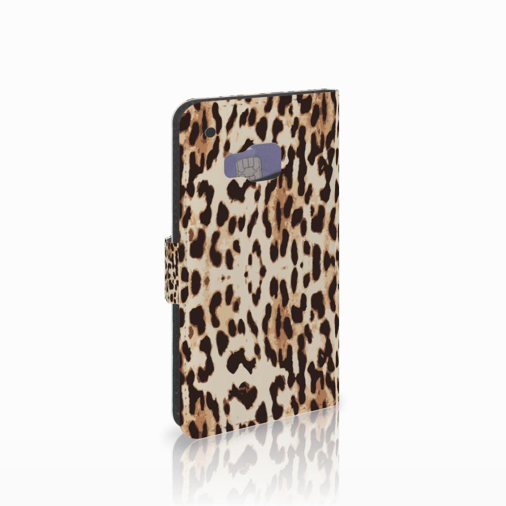 HTC One M9 Telefoonhoesje met Pasjes Leopard