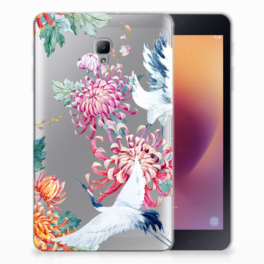 Samsung Galaxy Tab A 8.0 (2017) Back Case Bird Flowers