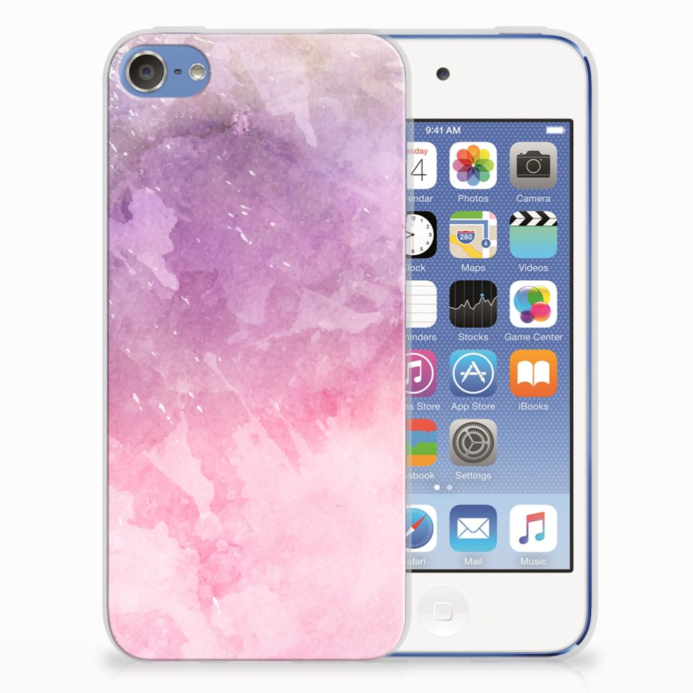Apple iPod Touch 5 | 6 TPU Hoesje Design Pink Purple Paint
