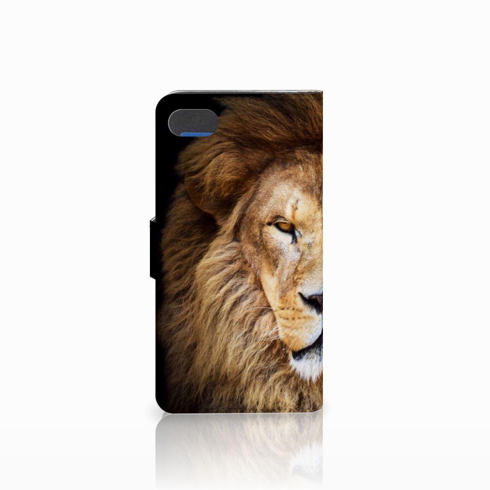 Huawei Y5 2018 Telefoonhoesje met Pasjes Leeuw
