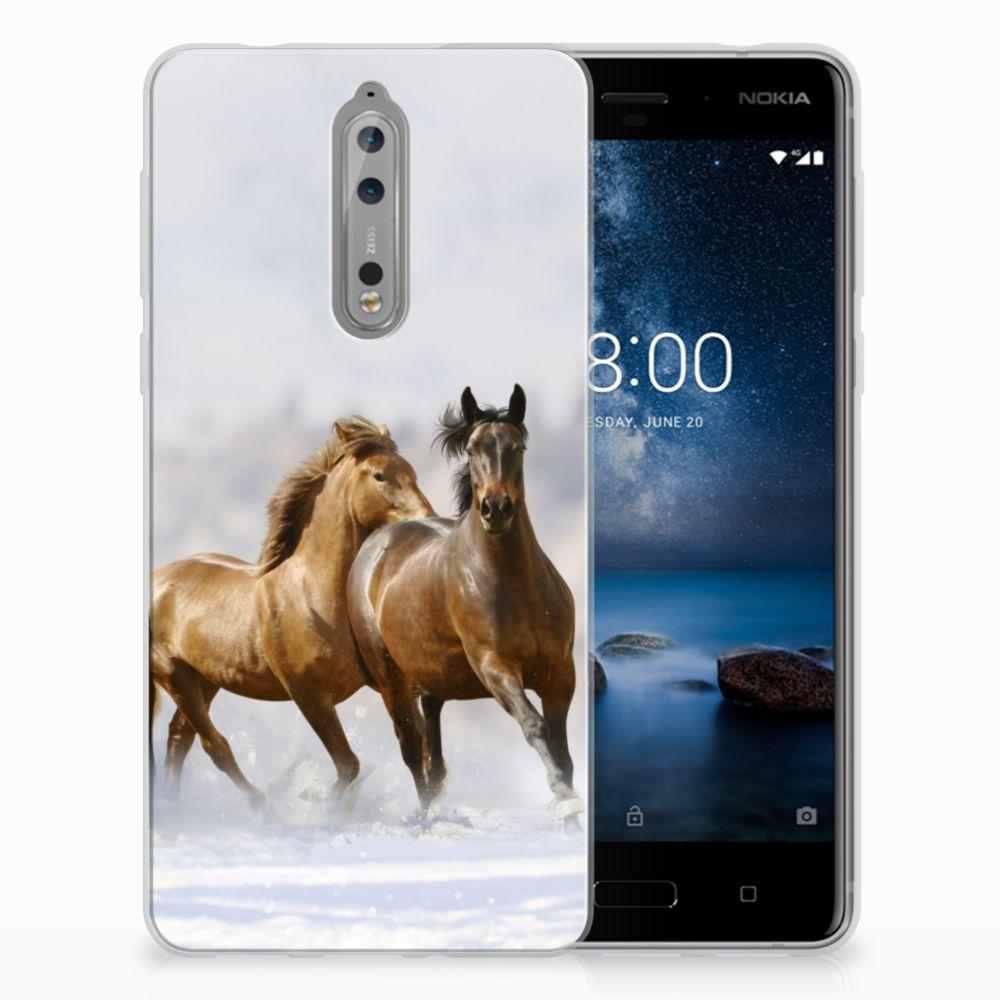 Nokia 8 TPU Hoesje Paarden