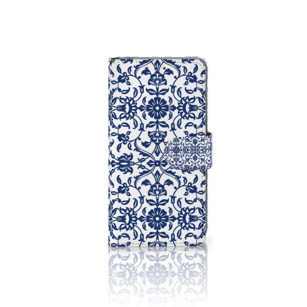Sony Xperia Z2 Uniek Boekhoesje Flower Blue