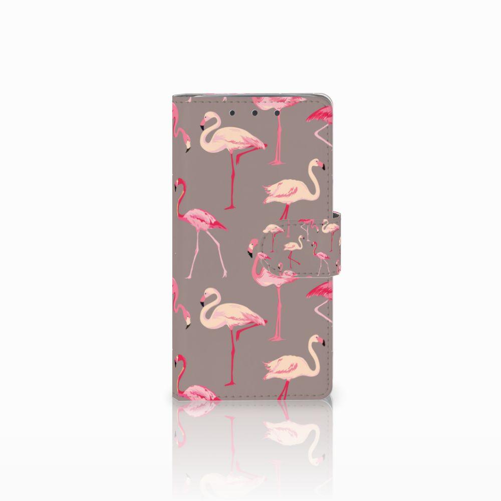 HTC One M7 Uniek Boekhoesje Flamingo