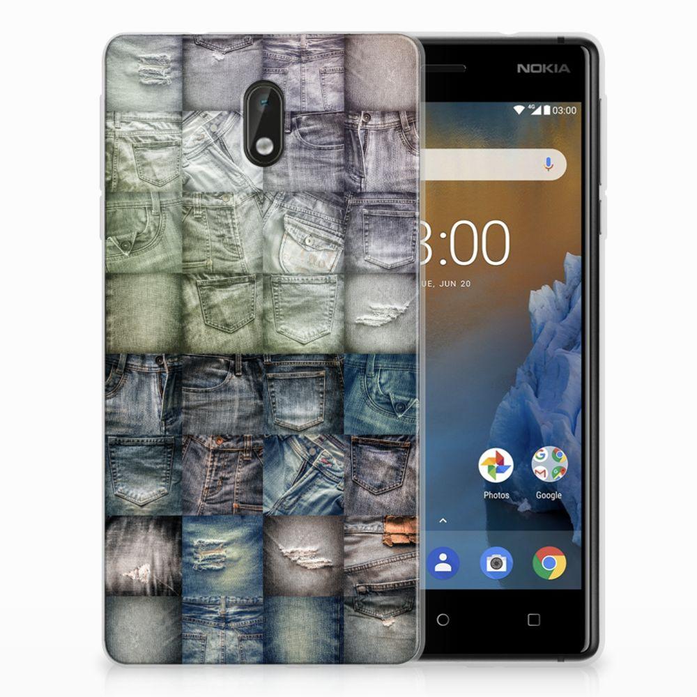Nokia 3 Uniek TPU Hoesje Spijkerbroeken