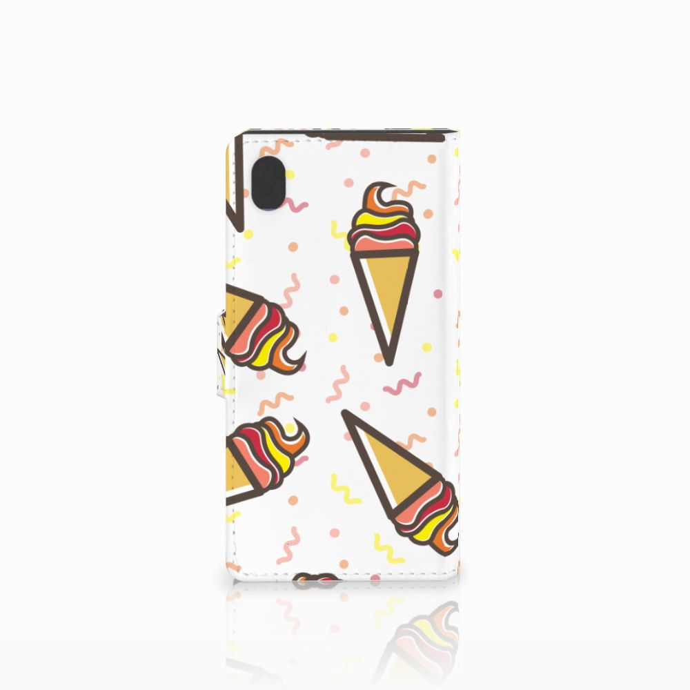 Sony Xperia M4 Aqua Book Cover Icecream
