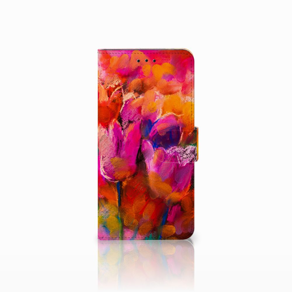 Motorola Moto E5 Boekhoesje Design Tulips