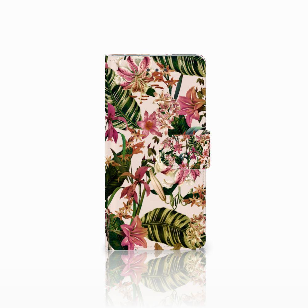 Huawei Ascend P8 Uniek Boekhoesje Flowers