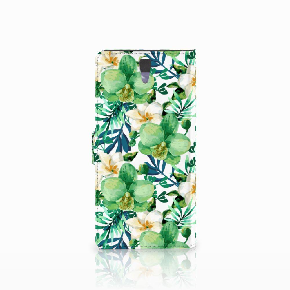 Sony Xperia C5 Ultra Hoesje Orchidee Groen