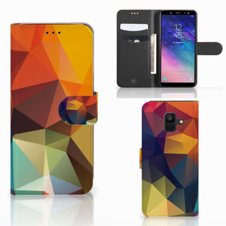 Samsung Galaxy A6 2018 Bookcase Polygon Color