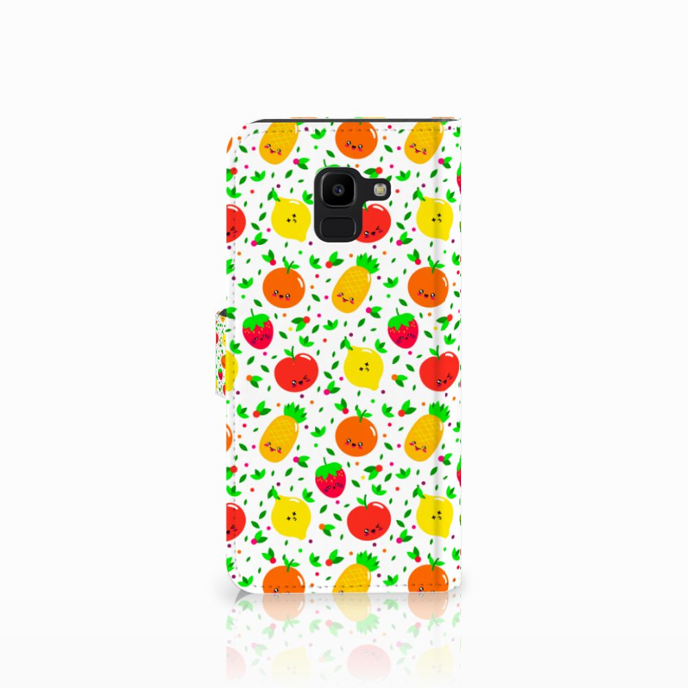 Samsung Galaxy J6 2018 Book Cover Fruits