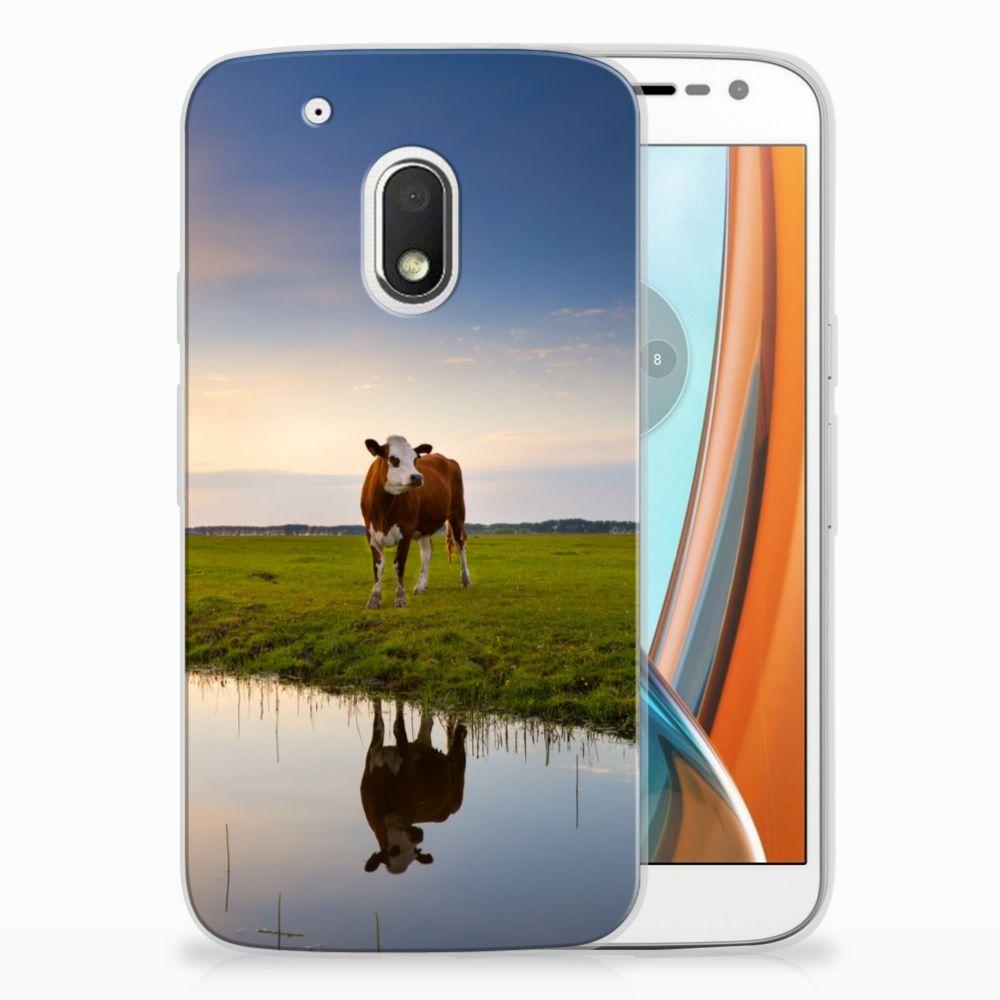 Motorola Moto G4 Play TPU Hoesje Design Koe