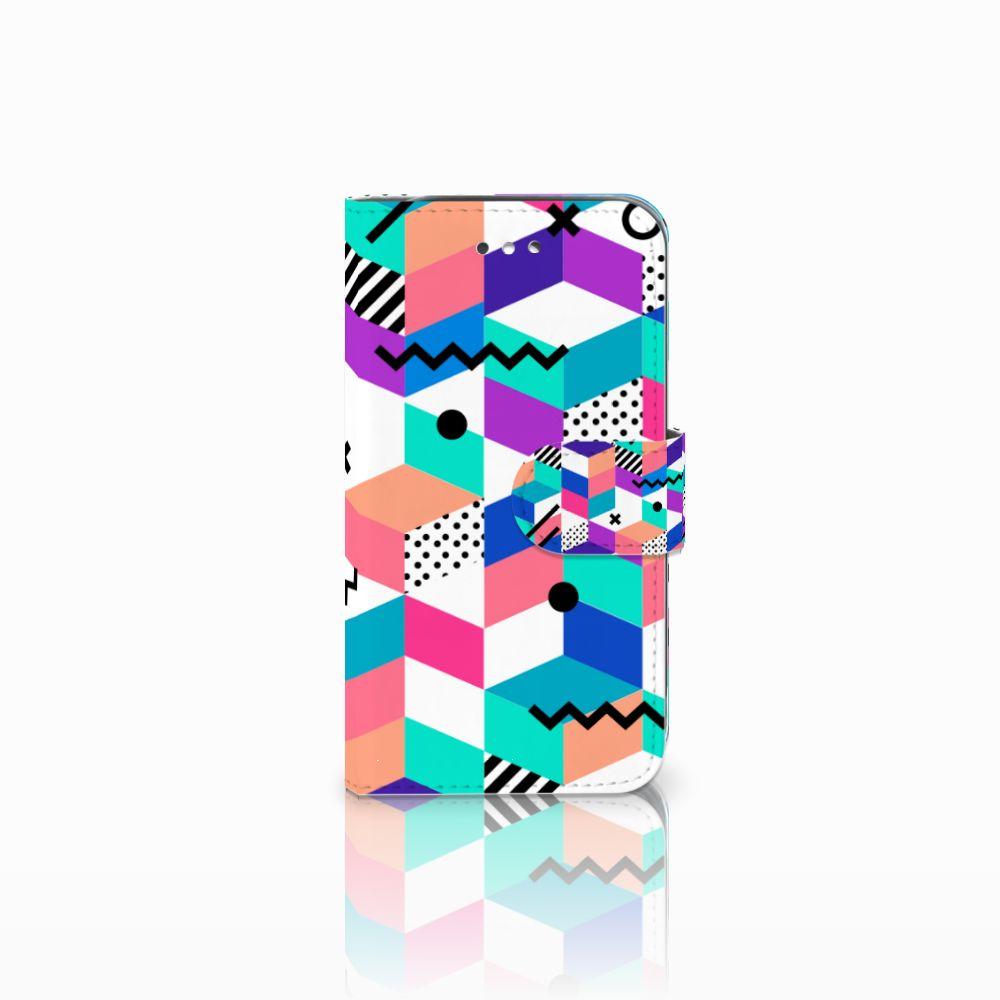 Samsung Galaxy S4 Bookcase Blokken Kleurrijk