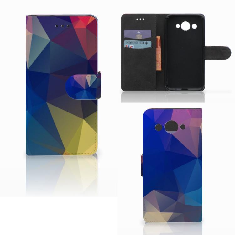 Huawei Y3 2017 Bookcase Polygon Dark