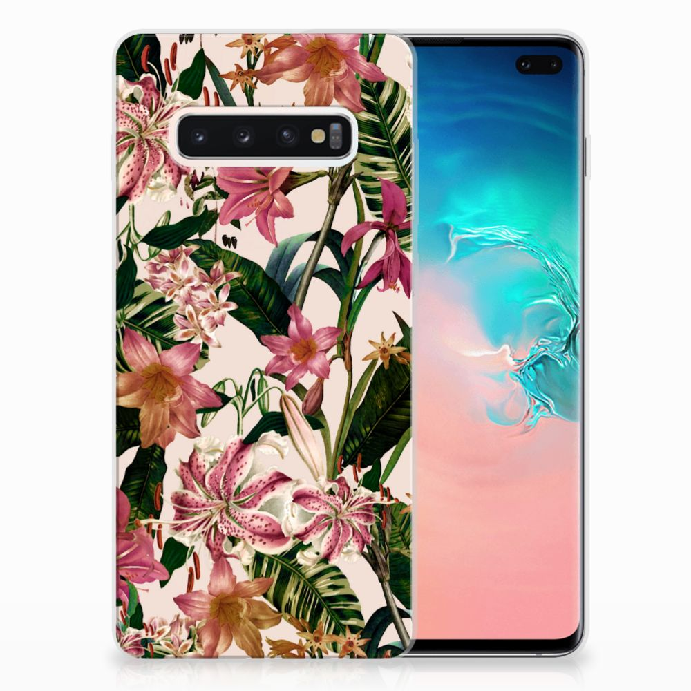 Samsung Galaxy S10 Plus TPU Case Flowers