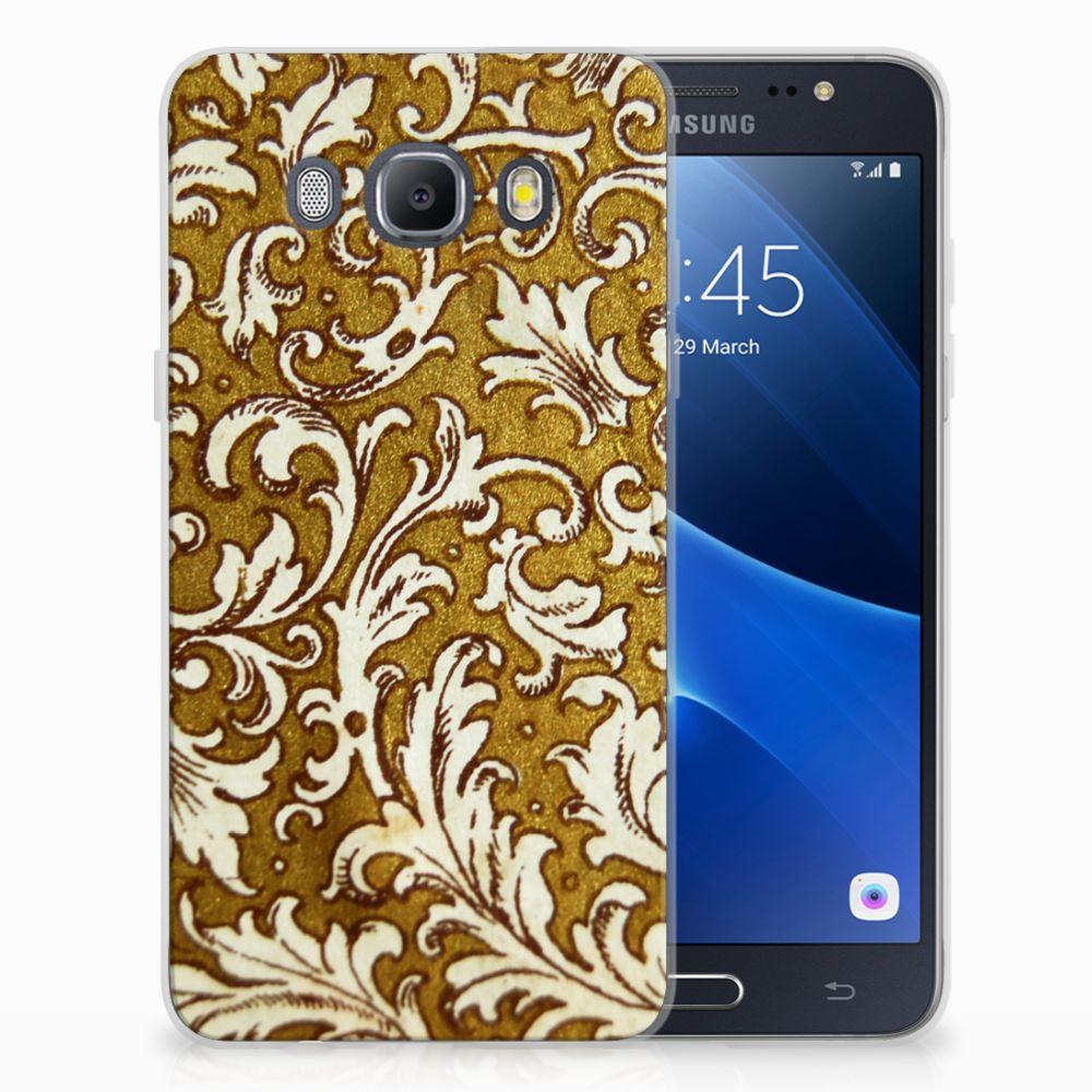 Siliconen Hoesje Samsung Galaxy J5 2016 Barok Goud