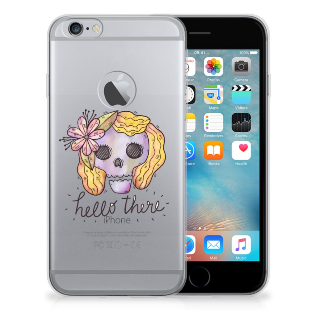 Silicone Back Case Apple iPhone 6 Plus | 6s Plus Boho Skull