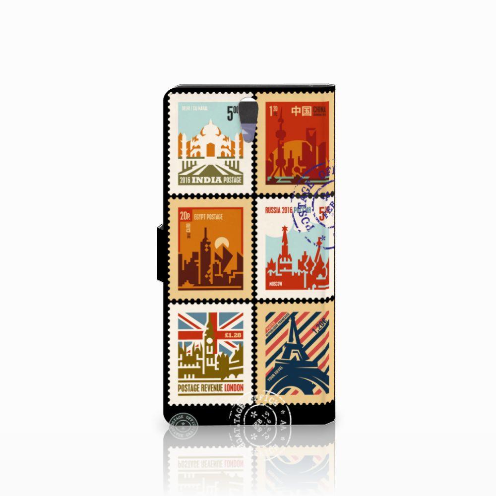 Sony Xperia C5 Ultra Flip Cover Postzegels
