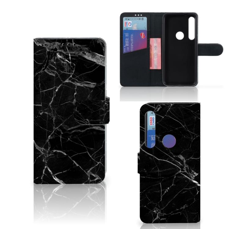 Motorola Moto G8 Plus Bookcase Marmer Zwart