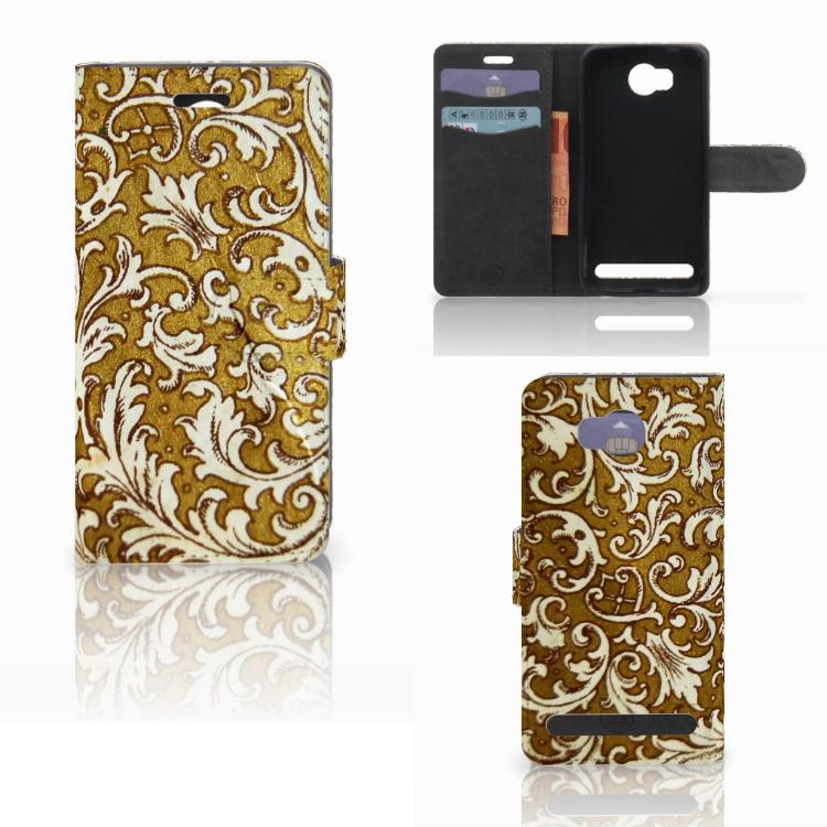 Wallet Case Huawei Y3 2   Y3 II Barok Goud
