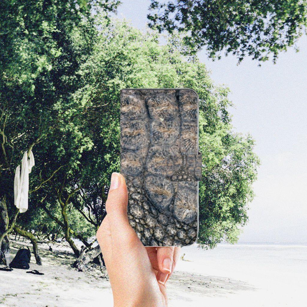 Samsung Galaxy S7 Edge Telefoonhoesje met Pasjes Krokodillenprint