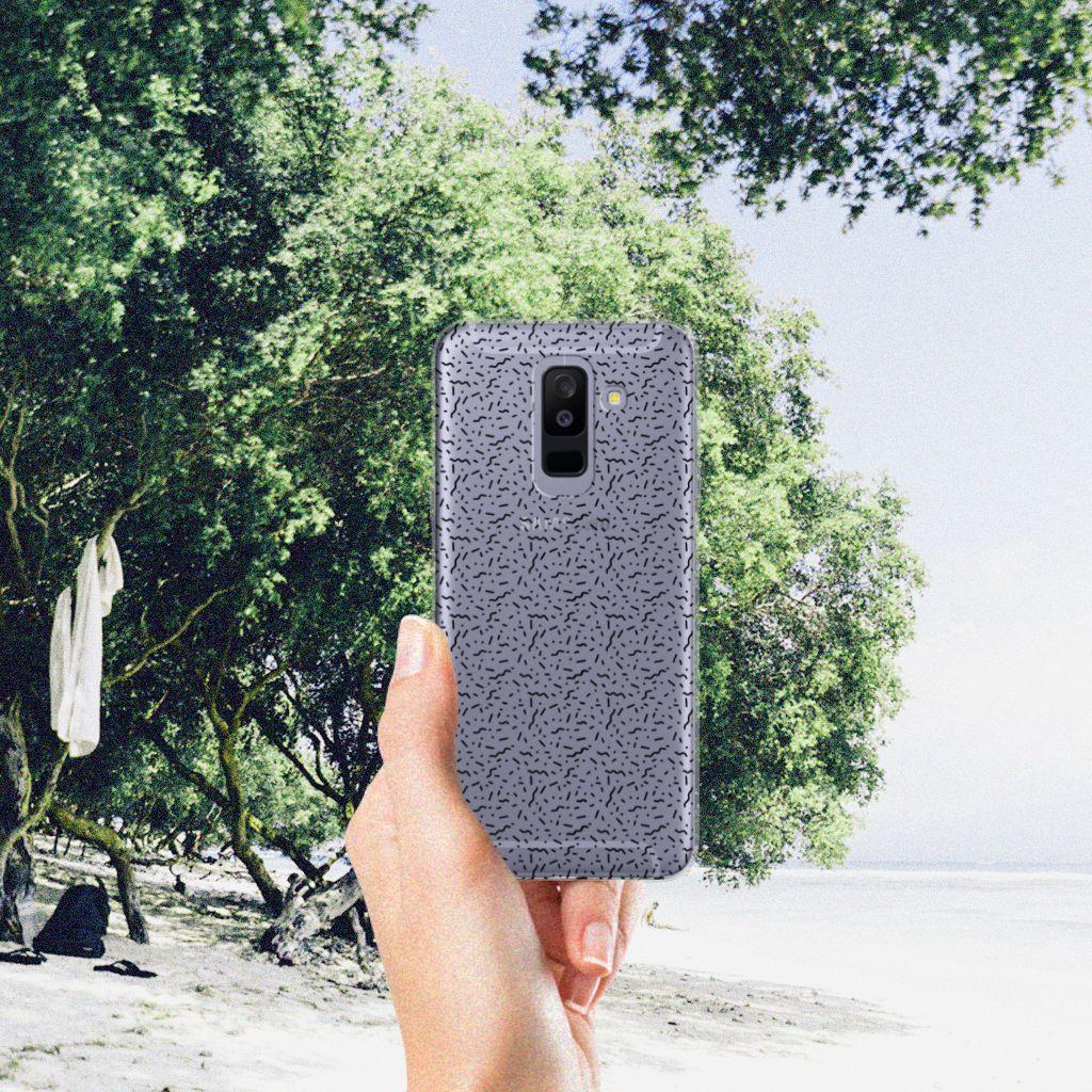 Samsung Galaxy A6 Plus (2018) TPU bumper Stripes Dots