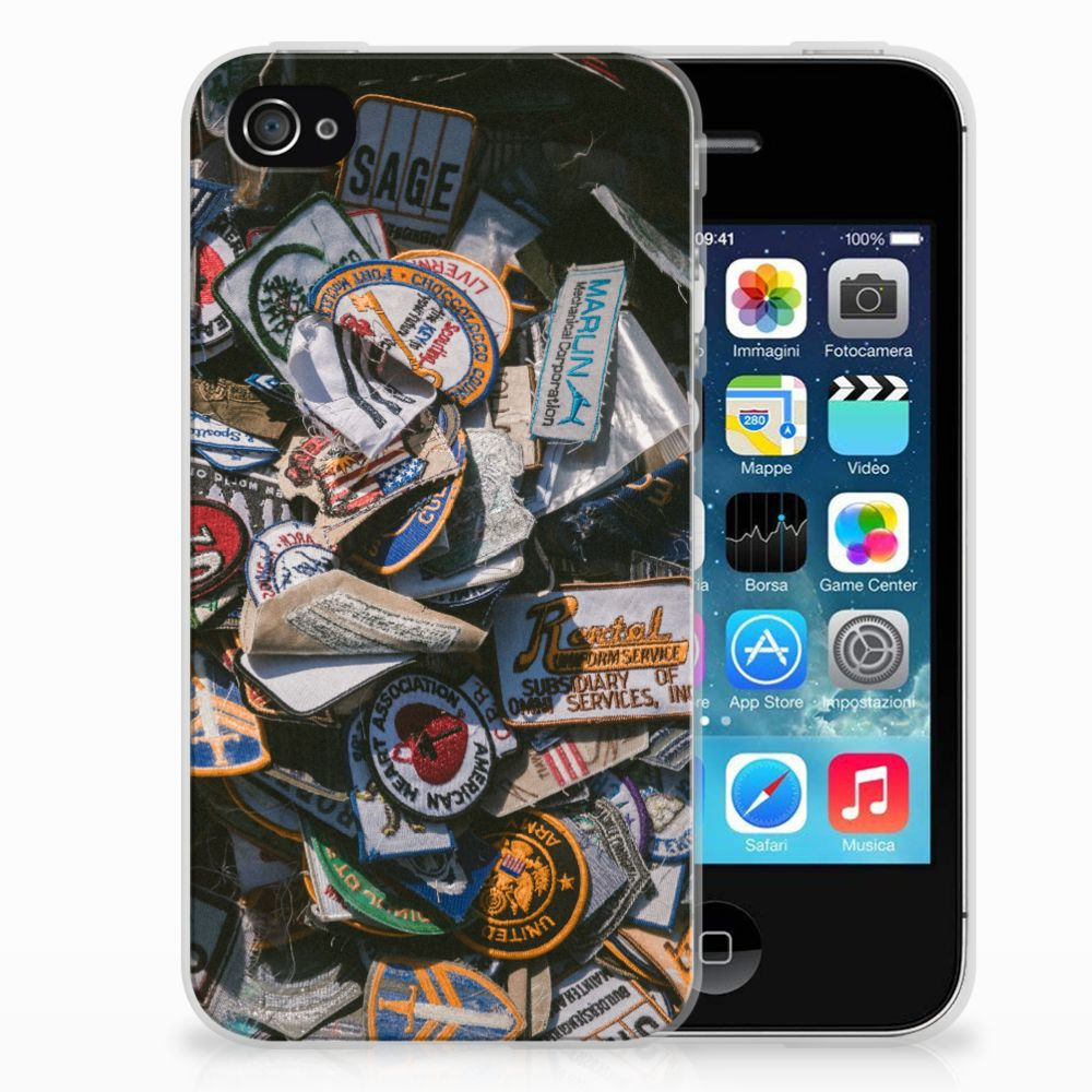 Apple iPhone 4 | 4s Siliconen Hoesje met foto Badges