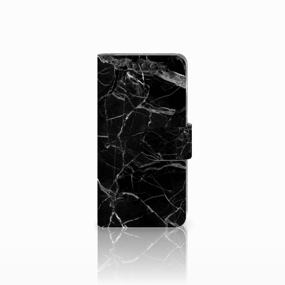 Samsung Galaxy A3 2016 Uniek Boekhoesje Marmer Zwart