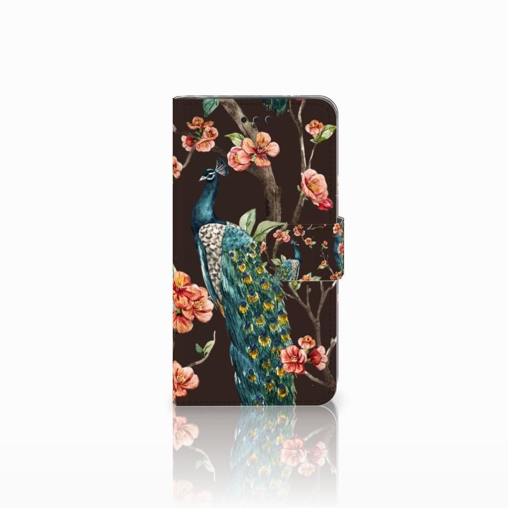 Samsung Galaxy J2 Pro 2018 Boekhoesje Design Pauw met Bloemen