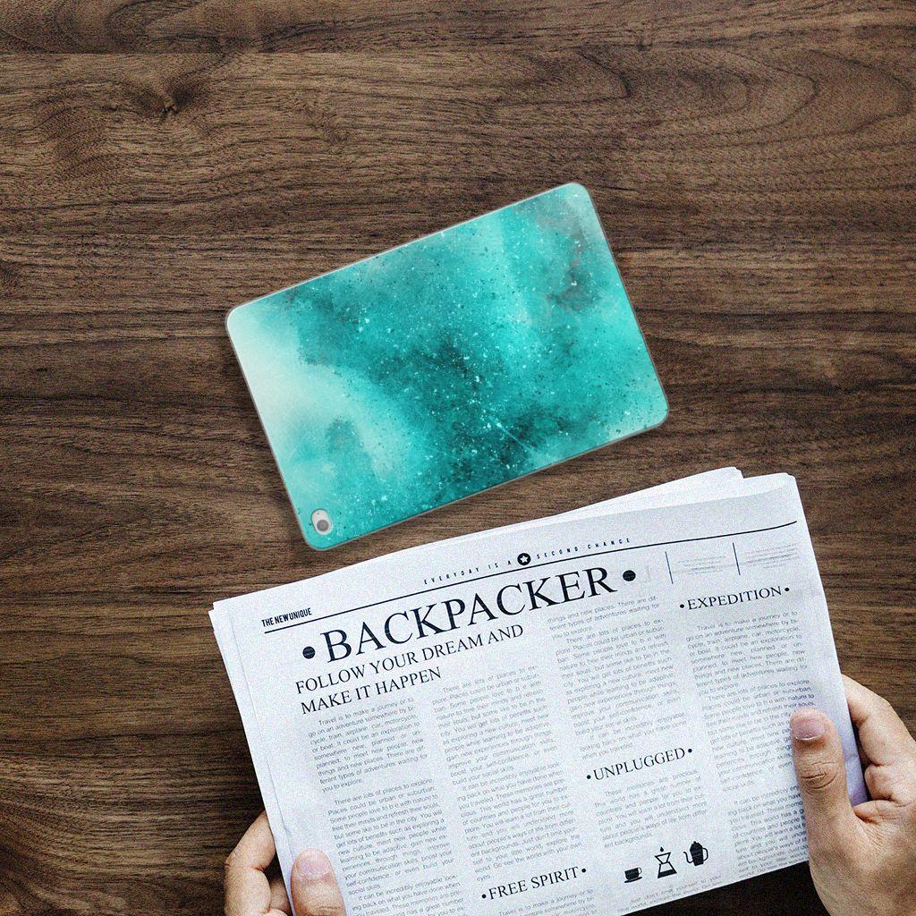 Apple iPad Mini 4 Uniek Tablethoesje Painting Blue