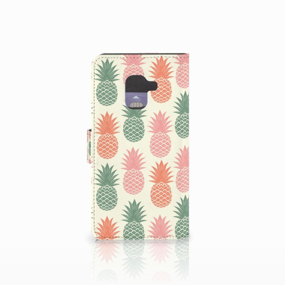 Samsung Galaxy A8 2018 Book Cover Ananas