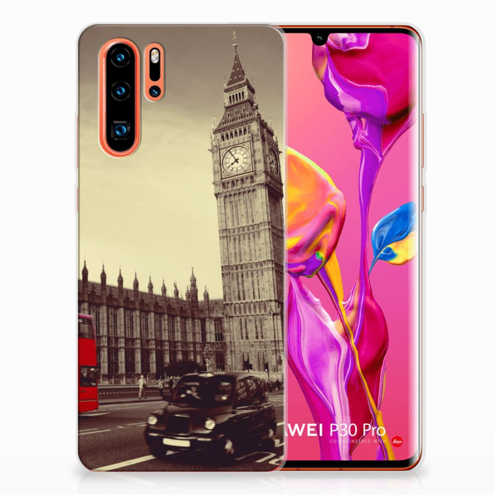 Huawei P30 Pro Siliconen Back Cover Londen
