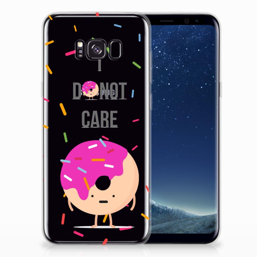 Samsung Galaxy S8 Plus Siliconen Case Donut Roze