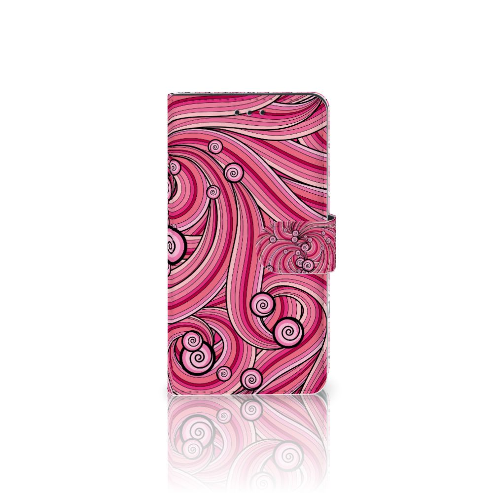 Samsung Galaxy J7 2017 | J7 Pro Uniek Boekhoesje Swirl Pink