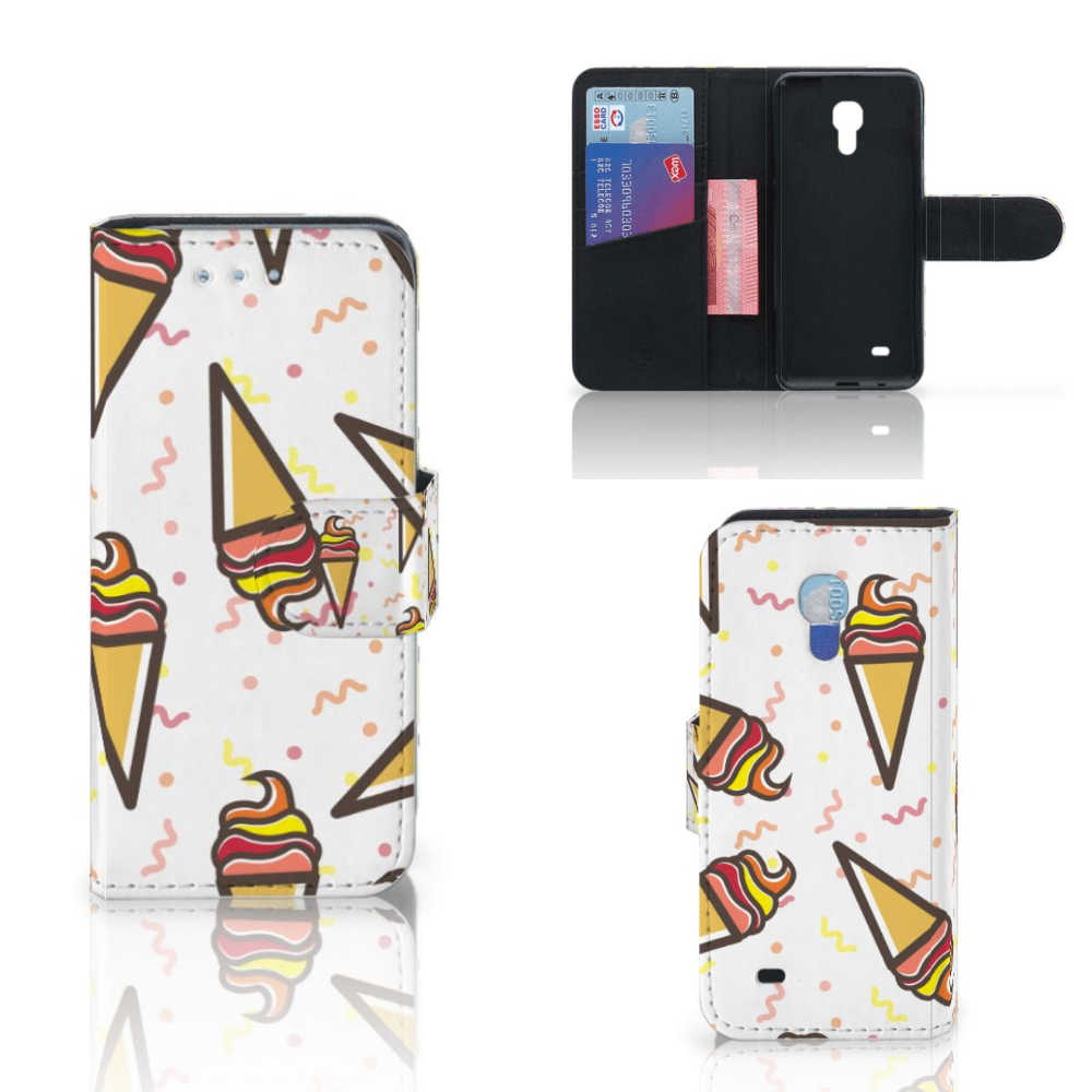 Samsung Galaxy S4 Mini i9190 Book Cover Icecream