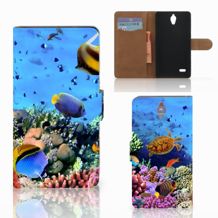 Huawei Ascend G700 Telefoonhoesje met Pasjes Vissen