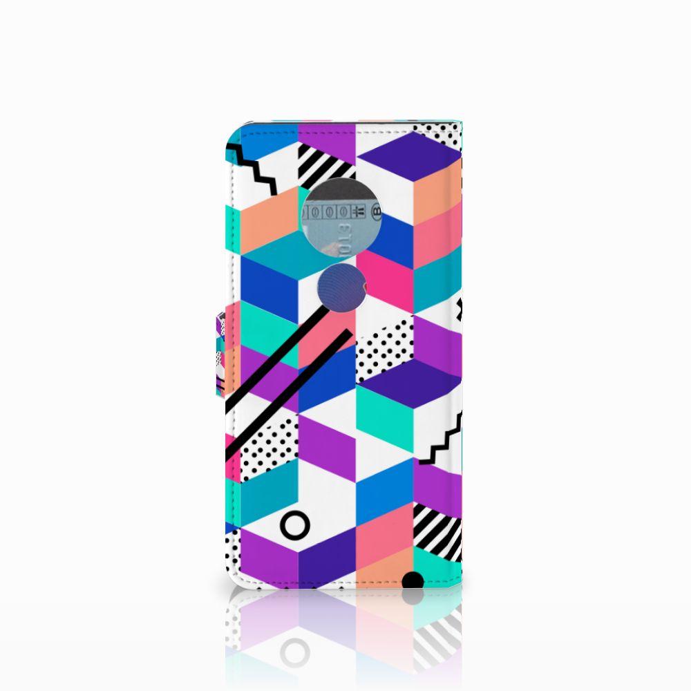 Motorola Moto E5 Bookcase Blokken Kleurrijk