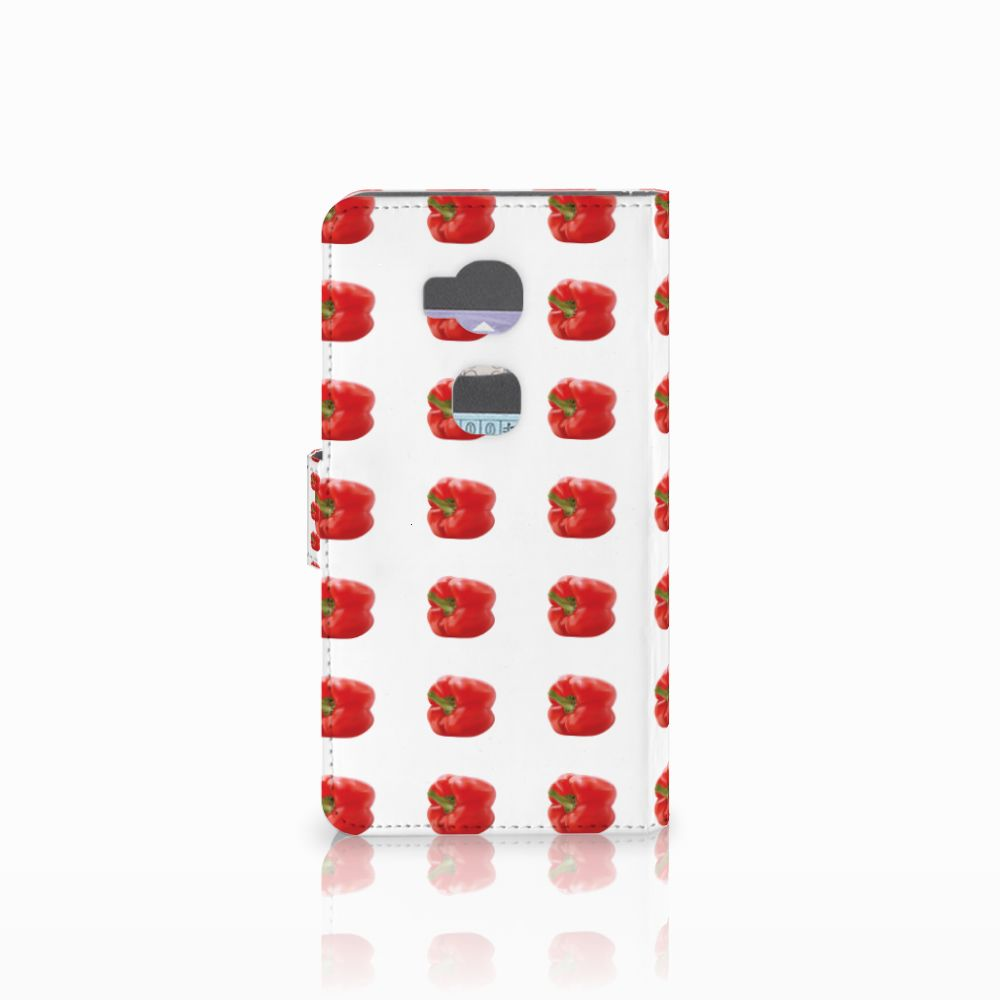 Huawei Honor 5X Book Cover Paprika Red