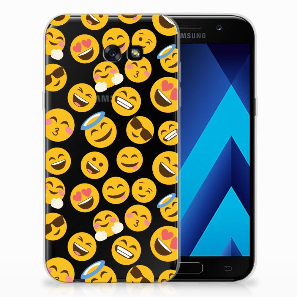 Samsung Galaxy A7 2017 TPU Hoesje Design Emoji